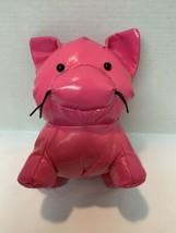 PINK PIG Stuffed Manhattan Toy Company Plush Shiny Plastic Bright Vintag... - $22.00