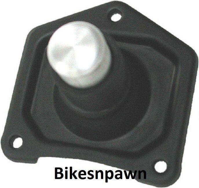 New Black Wrinkle Solenoid Starter Button 1990-2006 Big Twin Harley