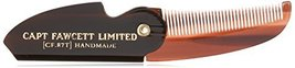 Captain Fawcett's Folding Pocket Moustache Comb - CF.87T - Made in England image 8