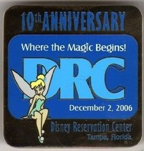 Disney Reservation Center 10th Anniversary Tinker Bell Cast Exclusive pin - $16.65