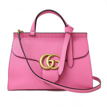 Gucci 421890 Marmont GG Shoulder Hand Bag Pink Leather Woman Auth New Un... - $2,662.90