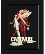 Campari Apertiff Liquor Poster, Sexy Bar Wall Art, Devil & Angel Wall Decor,  - $19.99 - $45.99