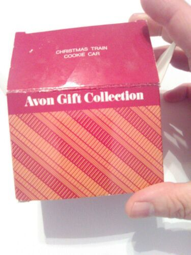 Vintage Avon Gift Collection Wooden Christmas Train Cookie Car Holiday Ornament image 5