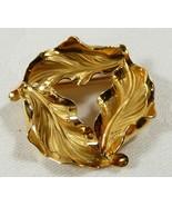 VTG 1/20 12KT GF three leaf wreath small pin brooch - $25.74