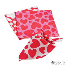 Heart Bandanas Valentine Gift 20 by 20 Inches, 3 Colors to Choose From - $3.87