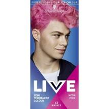 Schwarzkopf MEN Live Intense Colours Semi Permanen Hair Dye NEON PINK 12... - $15.89