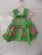 Mud Pie Baby Pleated Ruffle Sun Dress 167618 Little Sprout Collection 9/12 Month - $19.50