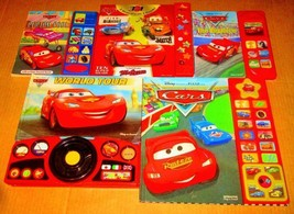 DISNEY Cars Book Lot of 5-Play-A-Sound/Song INTERACTIVE-World Tour, Big ... - $28.66