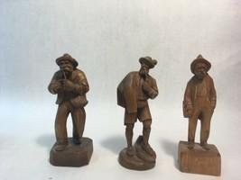 Set of Three (3) Vintage BLACK FOREST Hand Carved German Wood Figurines - $143.50