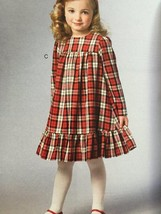 Vogue Sewing Pattern Little Vogue 9042 Girls Dress Size 6-8 New - $15.10
