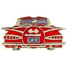Chevy 1959 Rear Red Car Emblem Pin Pinback    - $7.91