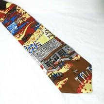 Vintage Sears Snapper Clip-on Tie Necktie Mens Multi-color General Store... - $29.69