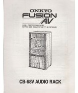 ONKYO Fusion AV CB-68V Audio Rack Instructions and Owner's Manual 1988 - $5.00
