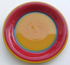 Hand Painted Multi-colored Swirl Design Large Dinner Plate Royal Norfork - $8.50