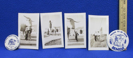 Vintage Paul Bunyan & Babe The Blue Ox Souvenirs Bemidji MN Photos & Pin... - $19.75