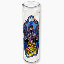 DC Comics Batman and Bat Logo Stained Glass Figure Prayer Candle with Gl... - $10.23
