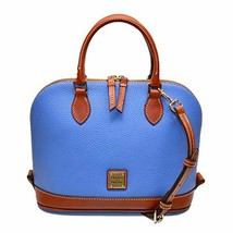 Dooney & Bourke Pebble Grain Zip Zip Satchel Azure Blue
