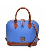 Dooney & Bourke Pebble Grain Zip Zip Satchel Azure Blue - $212.00