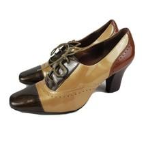 Anne Klein Akaroma iFlex Womens 8M Wingtip Oxford Pump Patent Leather Tri-color - $18.99