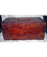 Antique Wood Ornate BRASS Finger Jointed Box for Microscope science Inst... - $75.00