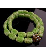 1950's Vintage Venetian Necklace - green gold  murano Glass -  irish  ch... - $110.00