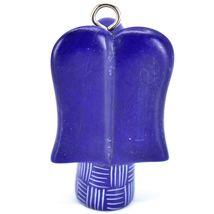 Tabaka Chigware Hand Carved Kisii Soapstone Dark Blue Angel Ornament Made Kenya image 3