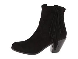 NEW $150 Sam Edelman Louie Fringe Suede Leather Zip Boots in Black sz 4 - $49.49