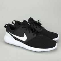 New Men's Nike Roshe G Spikeless Golf Shoes Black White AA1837-001 - $57.99