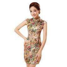 Fashion Chinese Style Cheongsam Elegant Retro Cheongsam E (Large)