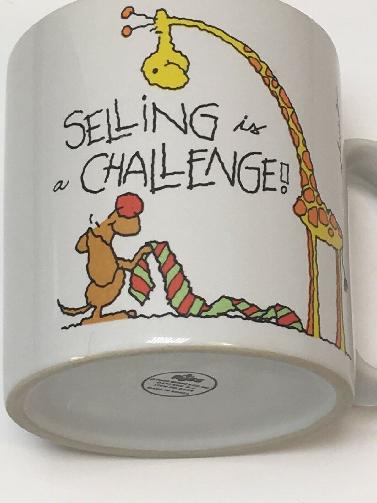 "Primary image for Vintage Russ Berrie Schneider ""selling is a challenge"" statements Coffee Mug"