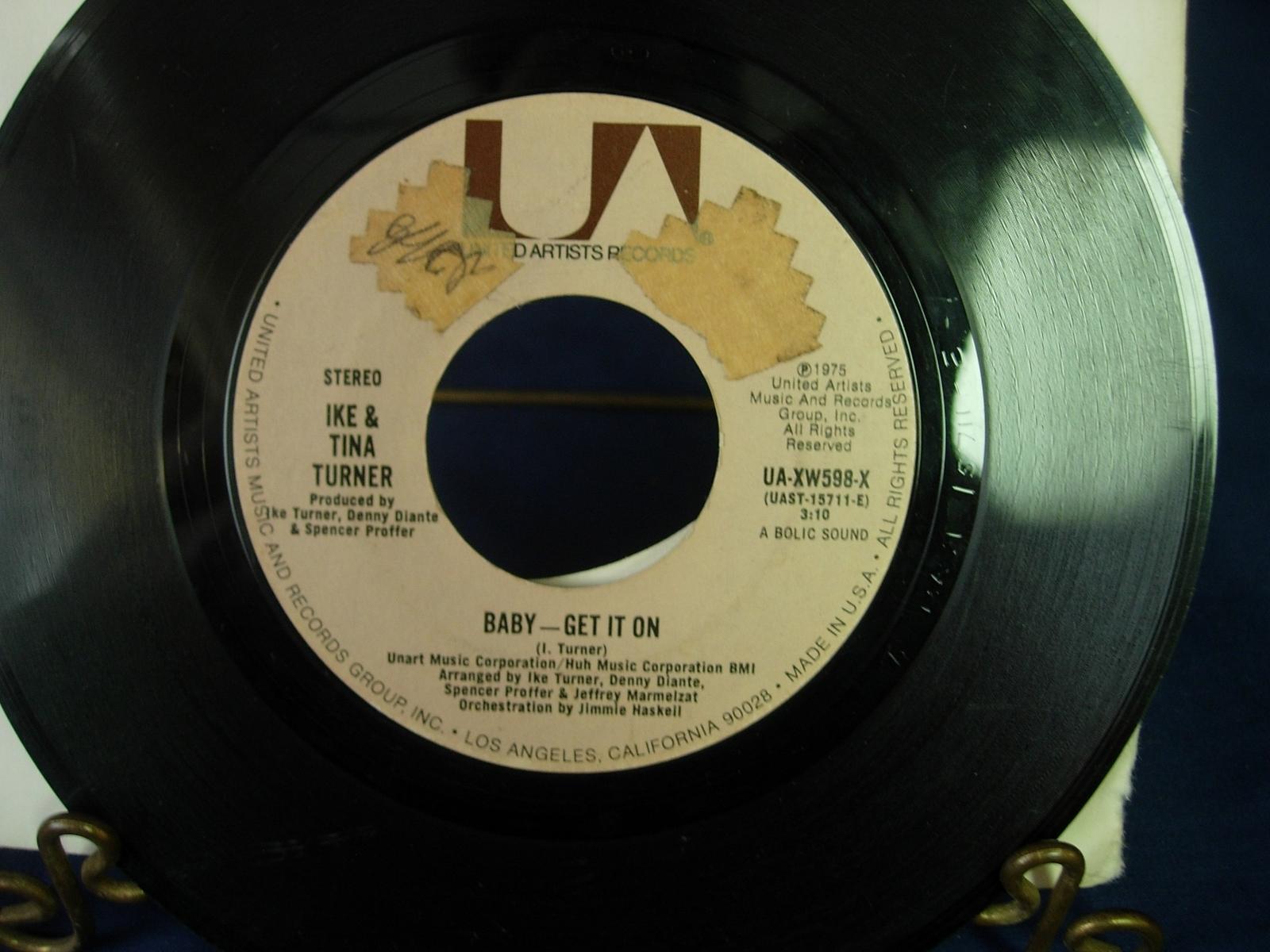 Ike & Tina Turner - Baby Get It On - United Artists UA-XW598-X