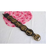 Vintage English horse Brass Strap 6 Small Pony Brasses 1970s Harness Orn... - $34.00