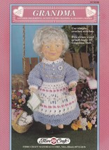 Grandma, Fibre Craft Doll Clothes Crochet Pattern Booklet FCM340 - $3.95