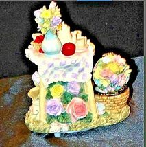 Vintage Music Box Sculpture with Trinket Box AA19-1411 image 3