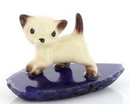 Hagen Reanker Miniature Cat Siamese Kitten Walking on Base Stepping Stones #2733