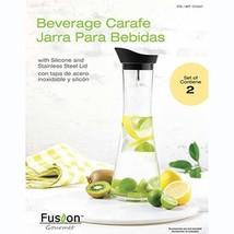 Fusion Gourmet Beverage Carafe Beverage Jar 2Pk Black Lid - $26.17
