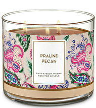 Bath & Body Works Praline Pecan Three Wick.14.5 Ounces Scented Candle - $22.49