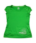 FILA Dry Fit Shirt Size Small Women's Lime Green 3M Safety Reflective Ac... - $14.27