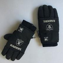 Large Men's Thermal Black Gloves Wells Lamont NFL RAIDERS Desert Dry Lined 1990s - $9.49