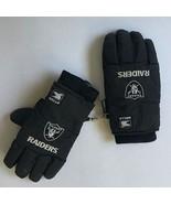 Large Men's Thermal Black Gloves Wells Lamont NFL RAIDERS Desert Dry Lin... - $9.49