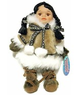 Alaskan Friends Traditional Alaskan Eskimo Doll  Medium Brown Fur Parka ... - $29.58