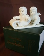 Dept 56 Snowbabies Winter Tales 1987 DOWN THE HILL WE GO! 79600 Sledding - $9.99