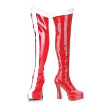 "FUNTASMA Electra-2090 5"" Heel Knee-High Boots - Red-White Str Patent - $49.95"