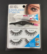 Ardell Deluxe Pack Eye Lashes New Sealed Black  - $4.95