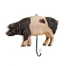 Metal Farmhouse Decorative Pig Wall Hook Coat Keys Apron Hook Wall Hanger