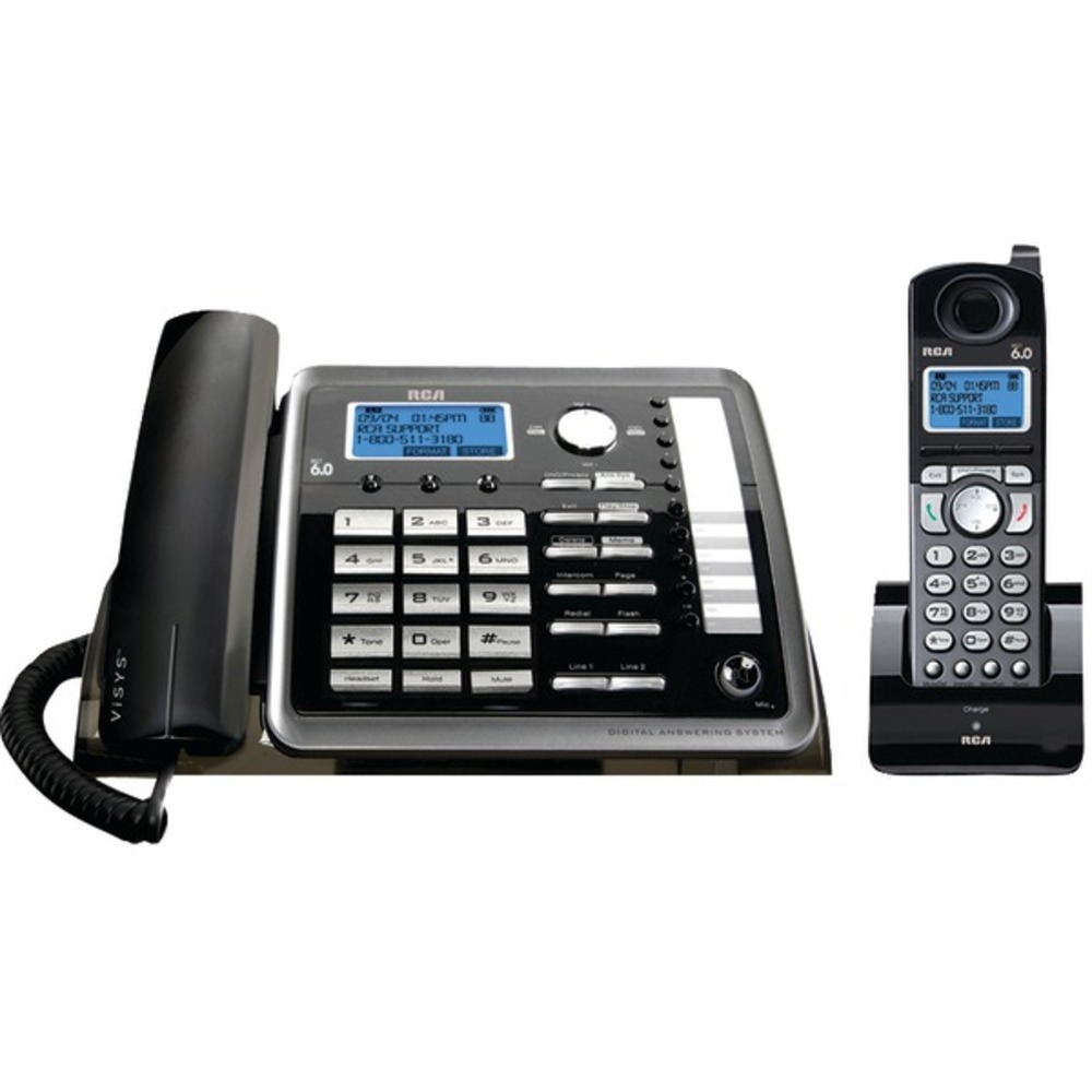 Primary image for RCA 25255RE2 DECT 6.0 2-Line Corded/Cordless Expandable Phone with Caller ID and