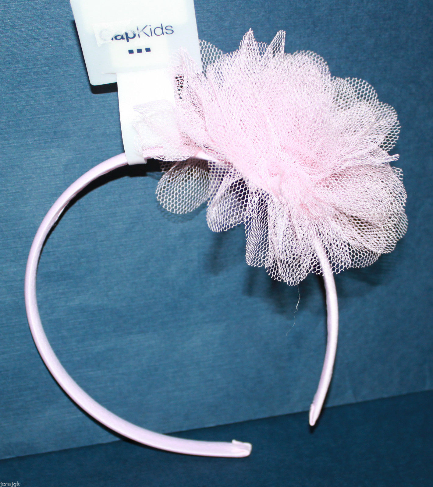 Gap Kids NWT Girl's Lt. Pink Headband w/ Tulle Puff Rosette - Fits ages 4-12 image 3
