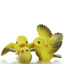 Fairy Garden Miniature Canary Family Ceramic Bird Figurine Set by Hagen Renaker