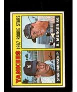1967 TOPPS #93 STAN BAHNSEN/BOBBY MURCER VG+ RC YANKEES ROOKIES  *X3362 - $3.96