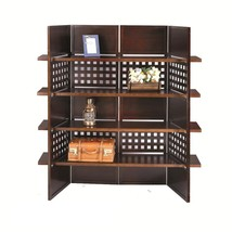 Room Divider Screen Partition Dorm Office 4 Panel Book Shelf - $345.00